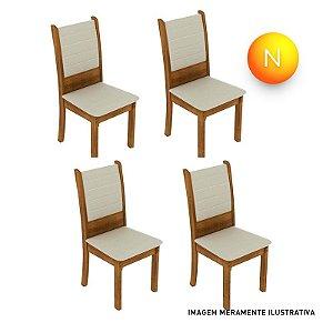 Cadeira Premium Fit Rústico Bege Madesa C/4