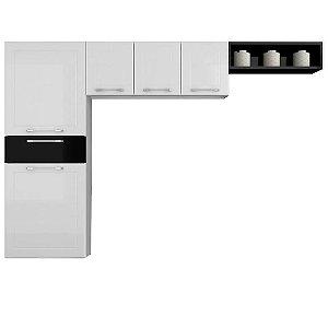 Cozinha Compacta 4 peças Mia 5 Portas 1 Gaveta Casamob 3 Peças