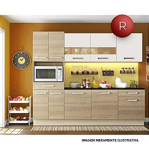 Cozinha Compacta Madesa Glamy Rubi Sem Balcão