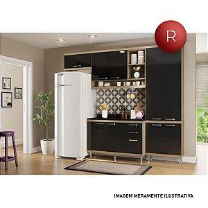 Cozinha Compacta Multimóveis Linea Sicília Sem Balcão