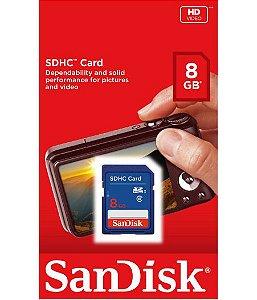 Cartão de Memória SDHC 8Gb - SanDisk