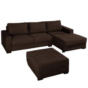 Sofá Caprice América com Chaise + Puff - American Comfort