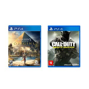 Kit Gamer - Assassin's Creed Origins + Call of Duty Infinity Warfare - PS4