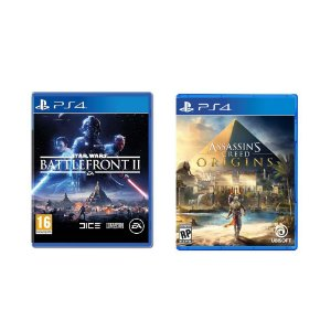 Kit Gamer - Star Wars Battlefront II + Assassin's Creed Origins - PS4