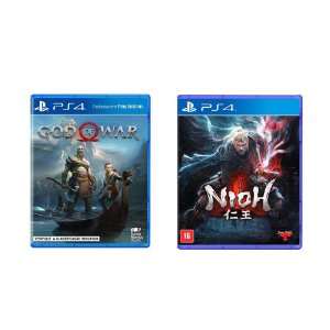 Kit Gamer - God of War + Nioh - PS4