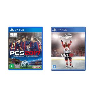 Kit Gamer - PES 2017 + NHL 16 - PS4