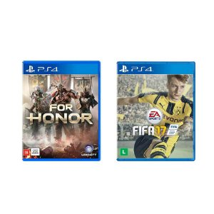 Kit Gamer - For Honor + FIFA 17 - PS4