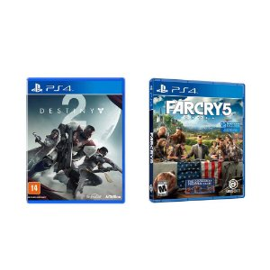 Kit Gamer - Destiny 2 + Far Cry 5 - PS4
