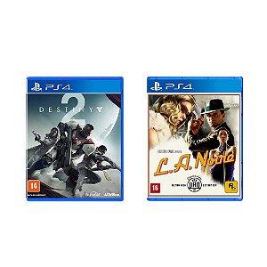 Kit Gamer - Destiny 2 + L.A. Noire - PS4