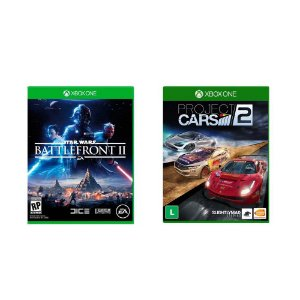Kit Gamer - Star Wars Battlefront II + Project Cars 2 - Xbox One