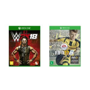 Kit Gamer - WWE 2K18 + FIFA17 - Xbox One