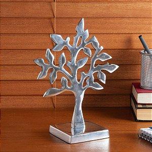 Enfeite de Metal Árvore Liat Prateada - Etna
