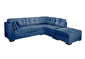 Sofá de Canto Blumenau Azul - Estofar
