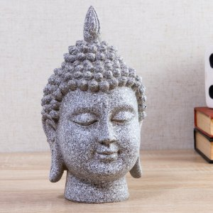 Enfeite de Resina Buda Tendai Cinza 25cm