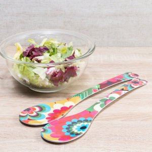 KIT PEGADOR SALADA MOSAIC MELAMINA COLOR