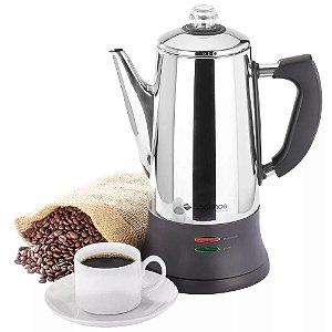 Cafeteira italiana eletrica inox CAF103 - Cadence