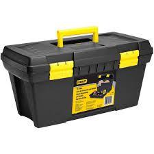 """Caixa de ferramentas 19""""com bandeja 49,2x26x24,8cm amarela - Stanley"""