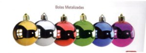 NAT BOLAS METALIZ 80MM OURO C/3 UN