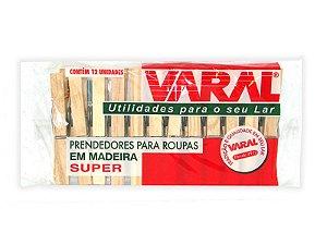 PRENDEDOR MADEIRA VARAL SUPER [12UN]