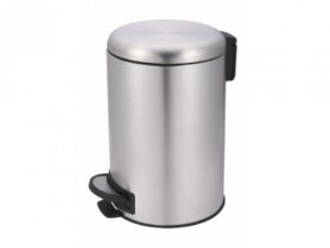LIXEIRA INOX 20L C/PEDAL+BALDE SAFIRA MOR