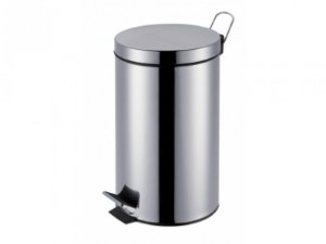 LIXEIRA INOX 30L C/PEDAL+BALDE AGATA MOR