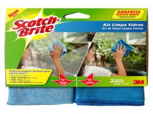 KIT PANO LIMPA VIDROS SCOTCH BRITE