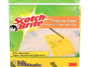 PANO DE CHAO AMARELO SCOTCH BRITE 59X49CM