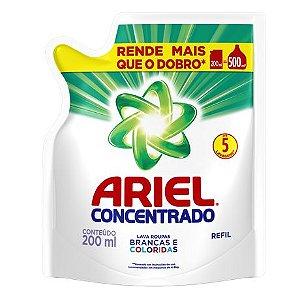 ARIEL CONCENTRADO SACHE 200ML 5 LAVAGENS
