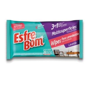 WIPES ESFREBOM PANO UMIDO MULTIUSO PACK [20UN]