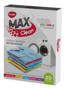 MAX CLEAN LENCOS ANTIMANCHAS CLINK [20UN]