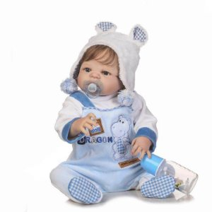 Bebê Reborn Gui - Cabelo Enraizado