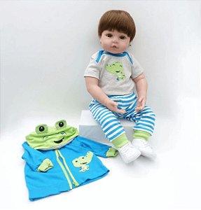 Bebê Reborn Adam - Corpo de Pano