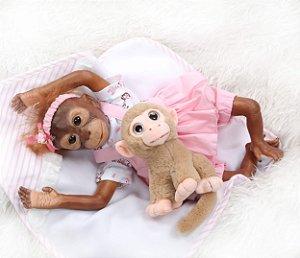 Bebê April  Reborn Macaco
