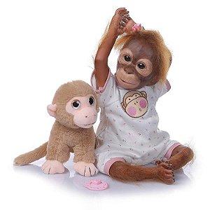 Bebê Anie Macaco Reborn - 3/4 de Silicone
