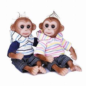 Bebes Reborn Gemeos Macaco Rafiki e Macaca Suri