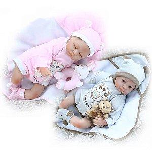 Bebês Reborn Gêmeos Amy e Ben