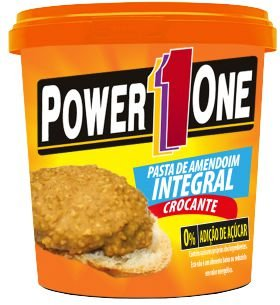 Pasta de amendoim integral crocante power1one  1 KG