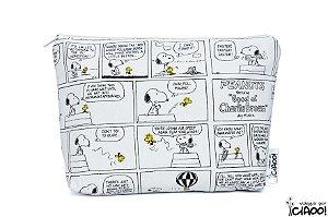 Snoopy preto e branco - Nécessaire Grande