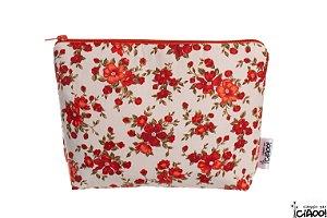 Flor Vermelho CH - Nécessaire Grande - Opção 2