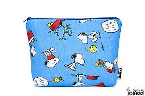 Snoopy Azul - Nécessaire Grande