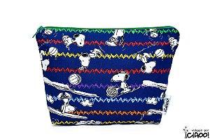 Snoopy Azul Escuro- Nécessaire Grande