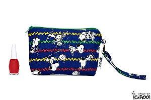 Snoopy Azul Escuro - Clutch