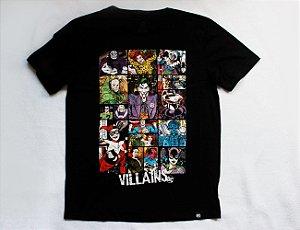 Camiseta Vilões da DC