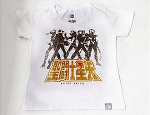 Camiseta Feminina - Cavaleiros do Zodíaco - Cavaleiros de Bronze