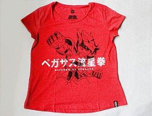 Camiseta Feminina - Cavaleiros do Zodíaco - Meteoro de Pégasus