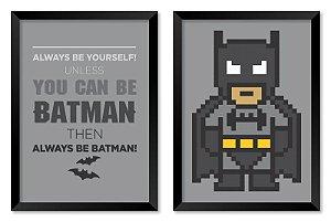 Jogo com 2 Quadros Batman