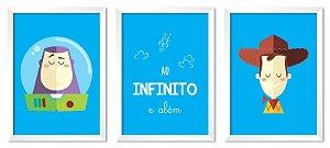 Jogo com 3 Quadros Ao Infinito e Além | Toy Story