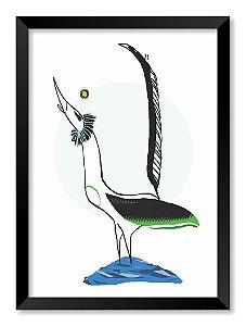 Quadro Pássaro Com Pés na Água