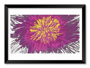 Quadro Abstração Floral