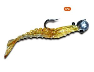 Isca Artificial Maré Jig Head Camarão Articulado Flexível 9cm